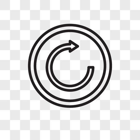 inténtelo de nuevo icono de vectores aislado sobre fondo transparente, intente de nuevo el concepto de logotipo
