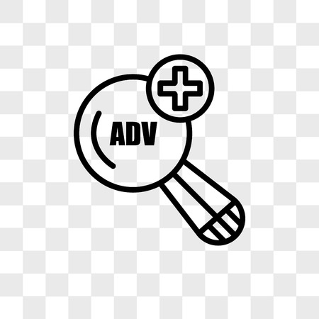 advanced search vector icon isolated on transparent background, advanced search logo concept