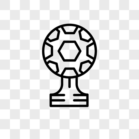 Soccer vector icon isolated on transparent background, Soccer logo concept 向量圖像