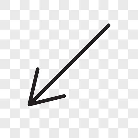 Diagonal arrow vector icon isolated on transparent background, Diagonal arrow logo concept