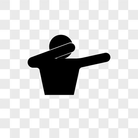 icône de vecteur de dab isolé sur fond transparent, concept logo dab Logo