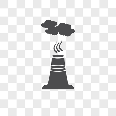 Pollution vector icon isolated on transparent background, Pollution logo concept Illustration