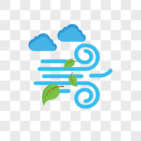 Windy vector icon isolated on transparent background, Windy logo concept Çizim