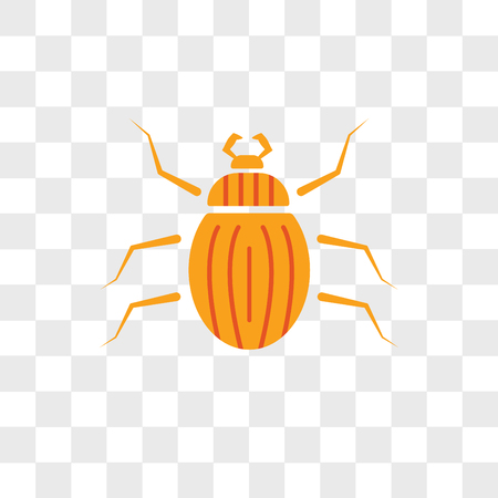 Beetle vector icon isolated on transparent background, Beetle logo concept