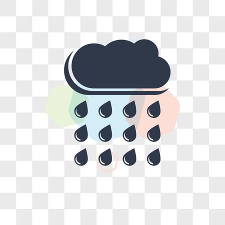 Rain Cloud vector icon isolated on transparent background, Rain Cloud logo concept  イラスト・ベクター素材