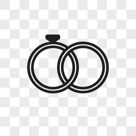 marital status vector icon isolated on transparent background, marital status logo concept