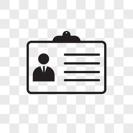Icona di vettore di dettagli personali isolato su sfondo trasparente, concetto di logo di dettagli personali Logo