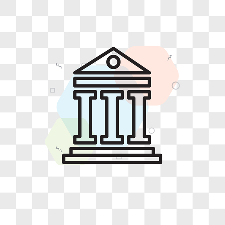 Pantheon vector icon isolated on transparent background, Pantheon logo concept 向量圖像