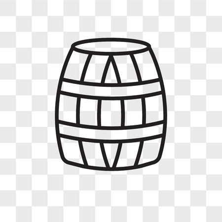 Barrel vector icon isolated on transparent background, Barrel logo concept Stockfoto - 109174567
