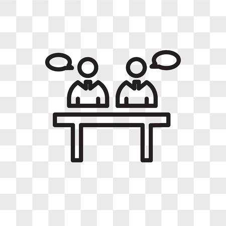 ikona wektora dyskusji panelowej na przezroczystym tle, koncepcja logo dyskusji panelowej