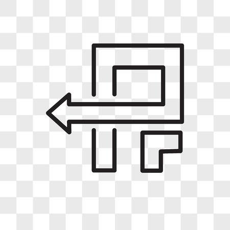 pivot vector icon isolated on transparent background, pivot logo concept