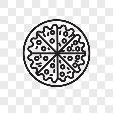Icono de vector de pizza aislado sobre fondo transparente, concepto de logo de Pizza