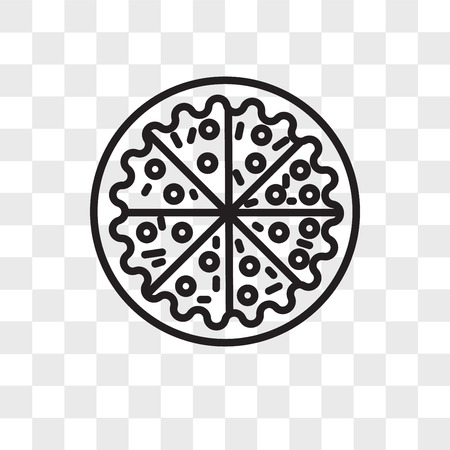 Pizza vector icon isolated on transparent background, Pizza logo concept  イラスト・ベクター素材