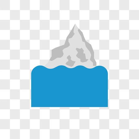 Iceberg vector icon isolated on transparent background, Iceberg logo concept Illustration