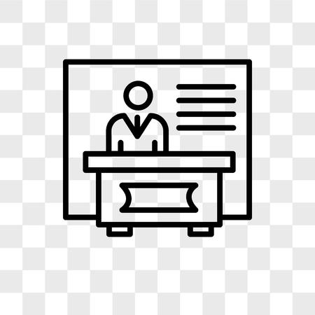 exhibitors vector icon isolated on transparent background, exhibitors logo concept