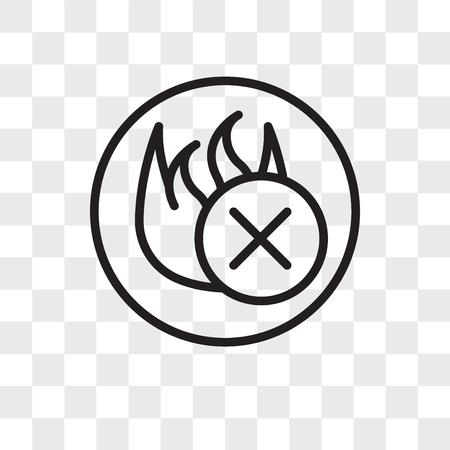 fire retardant vector icon isolated on transparent background, fire retardant logo concept