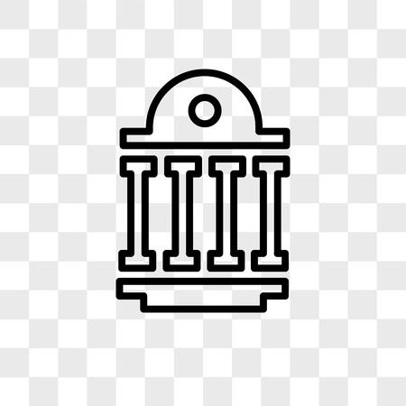 openbare sector vector pictogram geïsoleerd op transparante achtergrond, openbare sector logo concept