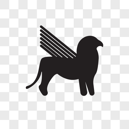 gryphon vector icon isolated on transparent background, gryphon logo concept