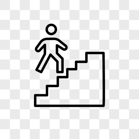 stairwell vector icon isolated on transparent background, stairwell logo concept Stock Illustratie