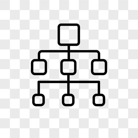 Org-Diagramm-Vektor-Symbol isoliert auf transparentem Hintergrund, Organigramm-Logo-Konzept