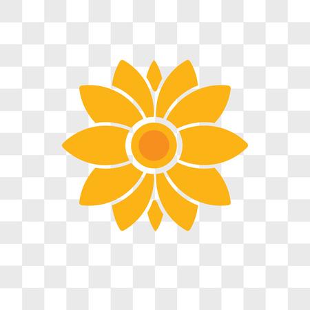 Icône de vecteur de fleur isolé sur fond transparent, concept logo fleur