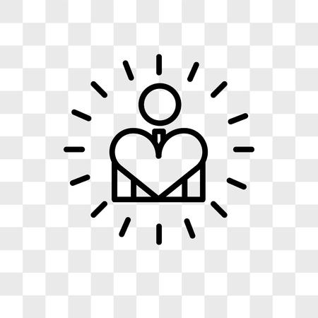 self esteem vector icon isolated on transparent background, self esteem logo concept