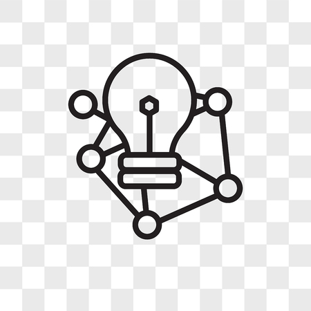 deep learning vector icon isolated on transparent background, deep learning logo concept Stock Illustratie