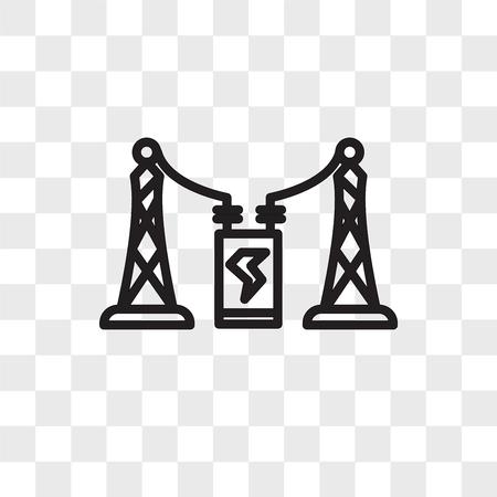 substation vector icon isolated on transparent background, substation logo concept Illustration