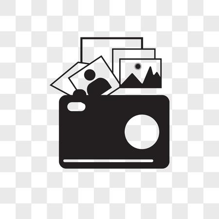 icône de vecteur de galerie photo isolé sur fond transparent, concept logo galerie photo Logo