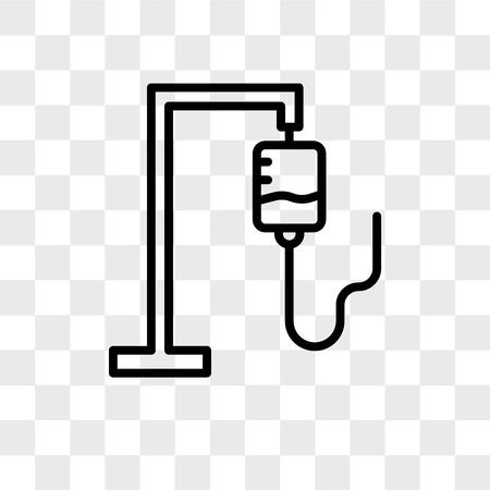 Icono de vector de bolsa iv aislado sobre fondo transparente, concepto de logo de bolsa iv