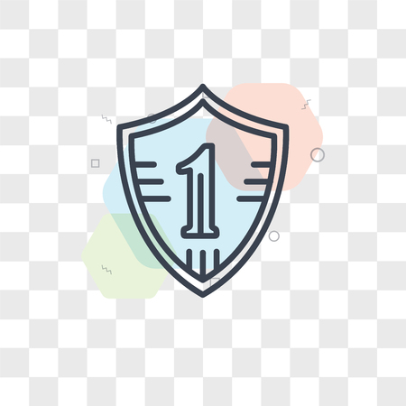First vector icon isolated on transparent background, First logo concept Illustration