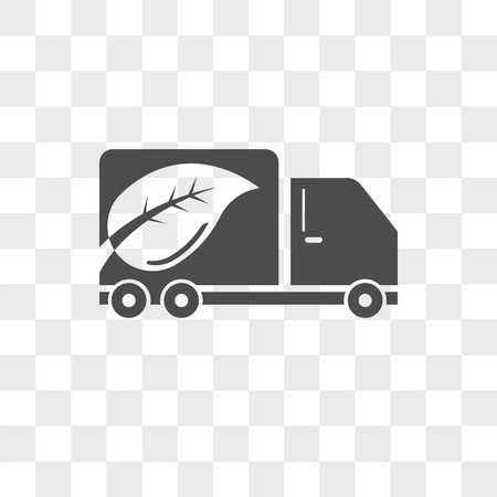 Eco Truck vector icon isolated on transparent background, Eco Truck logo concept