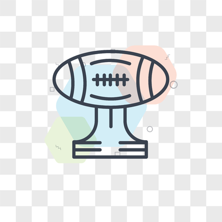 American football vector icon isolated on transparent background, American football logo concept