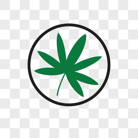 marijuana vector icon isolated on transparent background, marijuana logo concept