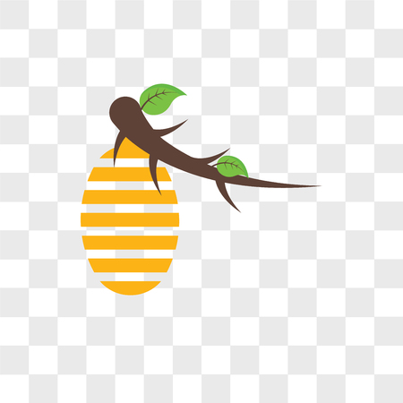Hive vector icon isolated on transparent background, Hive logo concept