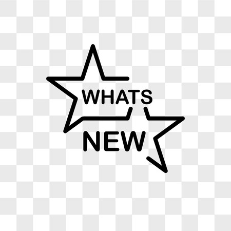 whats new vector icon isolated on transparent background, whats new logo concept