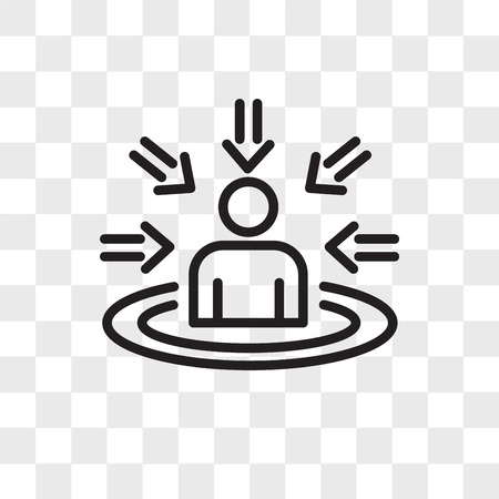 customer centricity vector icon isolated on transparent background, customer centricity logo concept  イラスト・ベクター素材