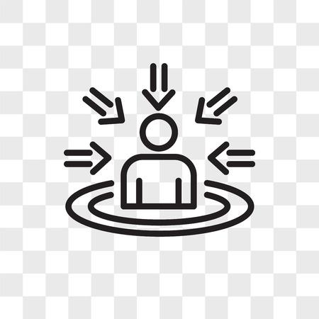 Icône de vecteur centré sur le client isolé sur fond transparent, concept de logo centré sur le client