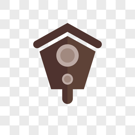 Birdhouse vector icon isolated on transparent background, Birdhouse logo concept Stock Illustratie