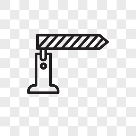 toll booth vector icon isolated on transparent background, toll booth logo concept