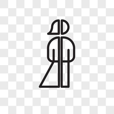 Icône de vecteur de personne neutre de genre isolé sur fond transparent, concept de logo de personne neutre de genre