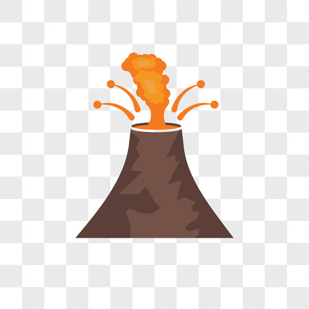Eruption vector icon isolated on transparent background, Eruption logo concept Banque d'images - 109317069
