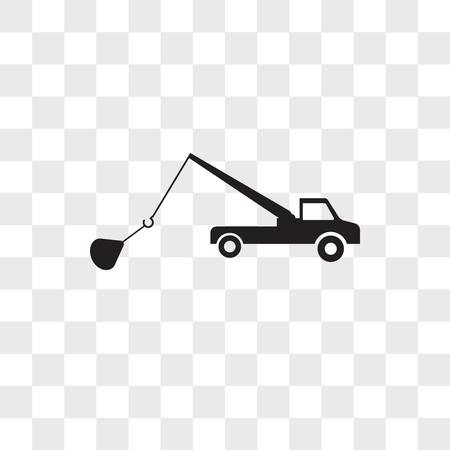 Abschleppwagen-Vektorikone lokalisiert auf transparentem Hintergrund, Abschleppwagen-Logo-Konzept