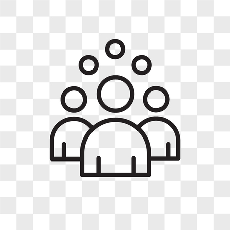 headcount vector icon isolated on transparent background, headcount logo concept 向量圖像