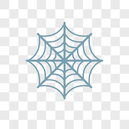 Spider web vector icon isolated on transparent background, Spider web logo concept Illustration