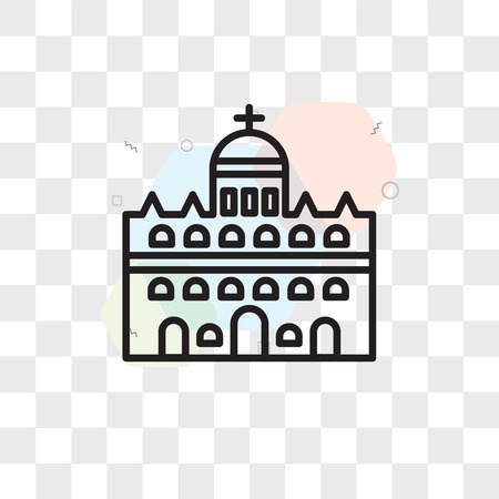 Vatican city vector icon isolated on transparent background, Vatican city logo concept