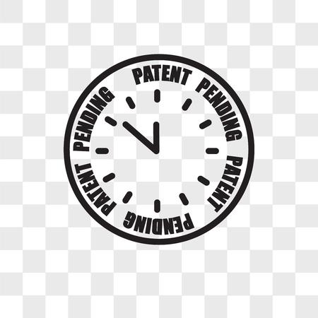 icono de vector pendiente de patente aislado sobre fondo transparente, concepto de logotipo pendiente de patente