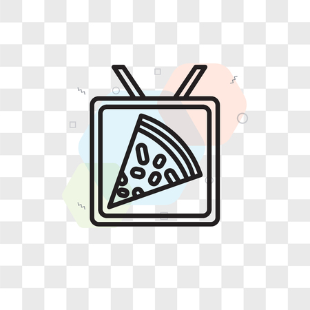 Pizza vector icon isolated on transparent background, Pizza logo concept Stock Illustratie