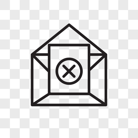 unsubscribe vector icon isolated on transparent background, unsubscribe logo concept