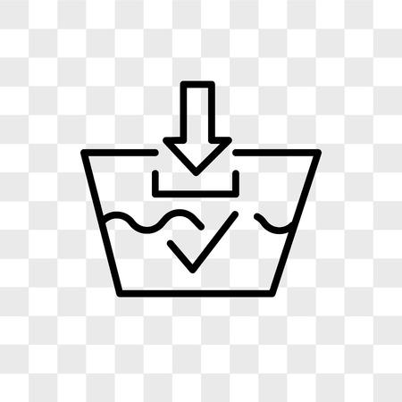 waschbare Vektorikone lokalisiert auf transparentem Hintergrund, waschbares Logo-Konzept